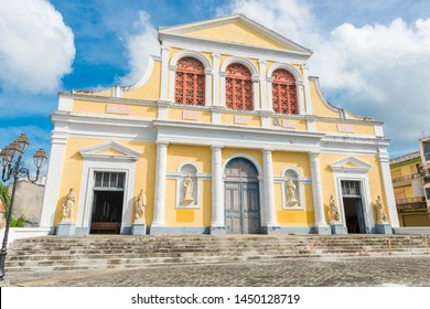 Cathedral Saint Pierre Saint Paul in Pointe-a-Pitre in Guadeloupe, French Caribbean