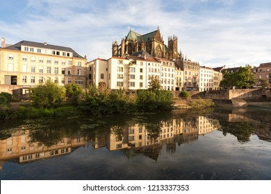 Cathedral of Saint Stephen in Metz. Metz, Grand Est, France.