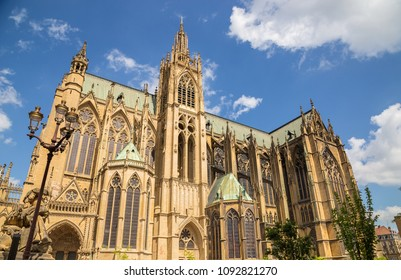 Cathedral Saint-Etienne in Metz on the Moselle France.