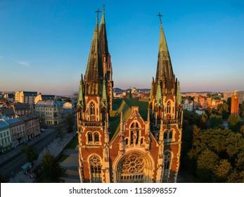 Cathedral of Saints Olga and Elizabeth (Saint Joseph Bilczewski, 1903 - 1911). Lviv, Ukraine. Church was built in memory of the popular Empress (Princes) Bavarian Elizabeth (Habsburg), known as Sisi.