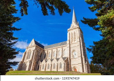 Cathedral of San Carlos de Bariloche in the centre of Bariloche, Patagonia region in Argentina.