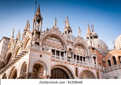 Cathedral of San Marco, Venice, Italy. Roof architecture details