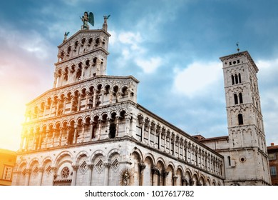Cathedral of San Michele in Foro - Roman Catholic basilica church in Lucca, Tuscany, Italy