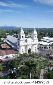 The cathedral of the San Vicente town in El Salvador.