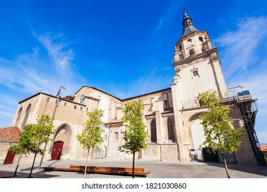 Cathedral of Santa Maria de Vitoria is a gothic style roman catholic cathedral located in Vitoria-Gasteiz, Basque country, Spain - Shutterstock ID 1821030860
