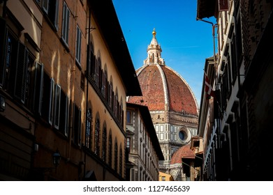 Cathedral of Santa Maria del Fiore, Florence, Italy. View from street