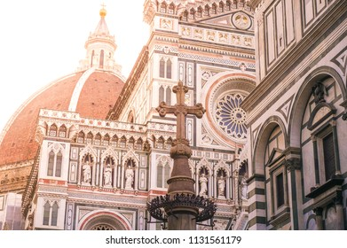 Cathedral Santa Maria del Fiore at sunrice, Florence, Italy