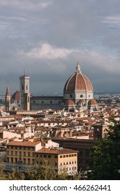 Cathedral Santa Maria del Fiore View in Florence, Italy