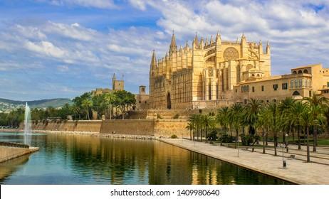 The cathedral of Santa Maria of Palma. Mallorca, Spain.