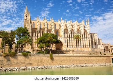 Cathedral Santa María in Palma de Mallorca, Spain