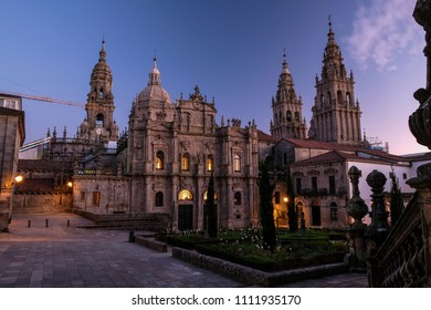 Cathedral of Santiago de Compostela during the Blue Hour - The Way of St James