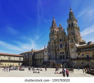 The cathedral of Santiago de Compostela (Galicia, Spain)
