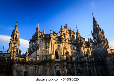 The Cathedral of Santiago de Compostela with the relics of Saint James the Great