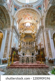Cathedral of the Santissimo Salvatore in Mazara del Vallo, town in the province of Trapani, Sicily, southern Italy. July-04-2018