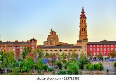 The Cathedral of the Savior or Catedral del Salvador in Zaragoza, Spain