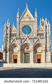The Cathedral of Siena in Tuscany, Italy on a beautiful summer day
