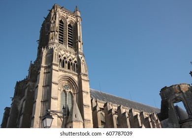Cathedral of Soissons in Aisne, Picardie in north of France
