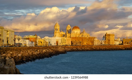 Cathedral from Southern Field Cadiz Spain