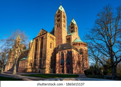 Cathedral in Speyer, Germany. Officially called the Imperial Cathedral Basilica of the Assumption and St Stephen, or short in german Dom zu Speyer - Shutterstock ID 1865615137