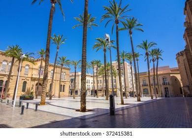 Cathedral Square in Almeria, Spain