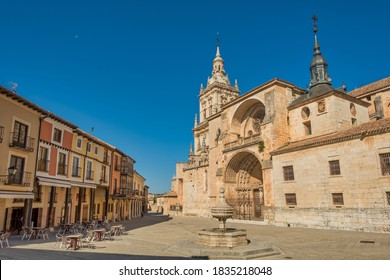 Cathedral and square of Burgo de Osma, Soria province, Spain.