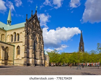 Cathedral Square in Muenster, Germany