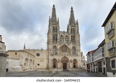 Cathedral and square of Santa Maria, Burgos, Castilla, Spain.