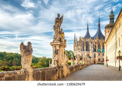 The Cathedral of St Barbara and Jesuit College in Kutna Hora, Czech Republic, Europe. - Shutterstock ID 1180629679
