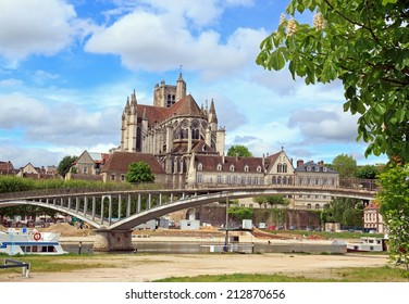 Cathedral st Etienne, abbey st German,  Auxerre (Burgundy France)