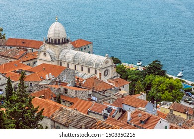 Cathedral of St. James - Katedrala sv. Jakova in Sibenik, Croatia. Travel destination. Religious architecture. - Shutterstock ID 1503350216
