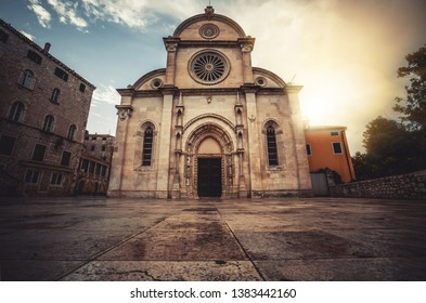 Cathedral of St James in Sibenik, Croatia - St James Cathedral is the most important architectural monument of the Renaissance era in Croatia. The Cathedral was listed as the UNESCO World Heritage.