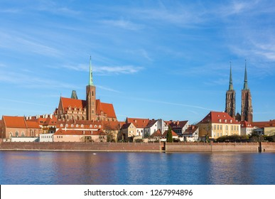 Cathedral of St. John the Baptist on the Odra river in Wroclaw, Poland