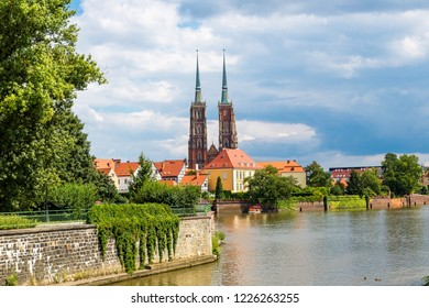 Cathedral of St. John in Wroclaw, Poland in a summer day
