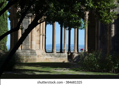 The Cathedral of St. Mary of La Seu Vella, former cathedral church of the Roman Catholic Diocese of Lleida, in Lleida, Catalonia, Spain, located on top of Lleida hill.
