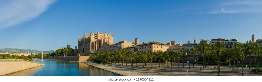 The Cathedral of St. Mary of Palma, a Gothic Roman Catholic cathedral located in Palma, Majorca, Spain.
