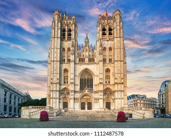The Cathedral of St. Michael and St. Gudula is a Roman Catholic church on the Treurenberg Hill in Brussels, Belgium.