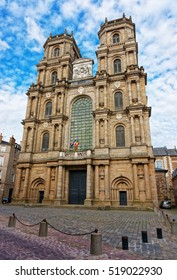 Cathedral of St Peter in the city center of Rennes, Brittany region of France.