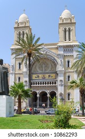 The Cathedral of St Vincent de Paul is a Roman Catholic cathedral in Tunis.