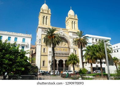 Cathedral of St. Vincent de Paul, the temple is the Cathedral of the Archdiocese of Tunisia.