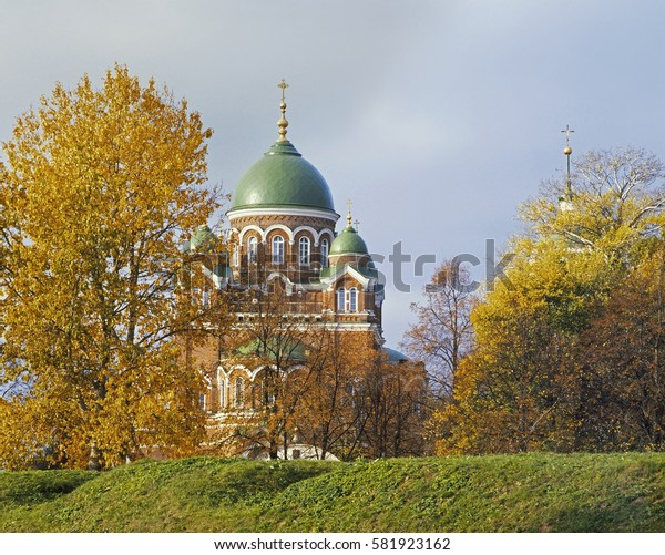 Cathedral of St. Vladimir in Spasso-Borodino Convent. Russia
