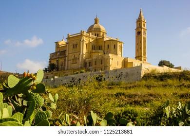 Cathedral Ta Pinu near Gharb in Gozo Island, Malta, in Europe