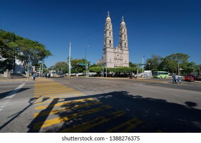 Cathedral of the Tabasco state, Mexico. A cathedral is a Catholic church that contains the cathedra of a bishop, thus serving as the central church of a diocese, conference, or episcopate.