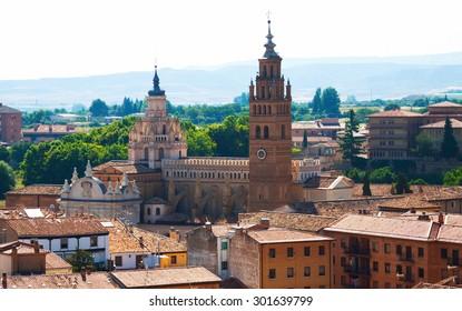 Cathedral of Tarazona in sunny day. Zaragoza,  Aragon