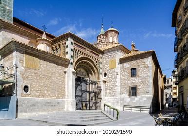 Cathedral at Teruel, Aragon, Spain, front door