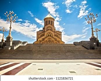 Cathedral of Tsminda Sameba. Georgia, Tbilisi