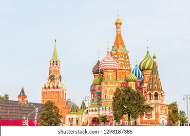 Cathedral of Vasily the Blessed commonly known as Saint Basil's Cathedral. Cathedral of the Intercession of the Most Holy Theotokos on the Moat or Pokrovsky Cathedral