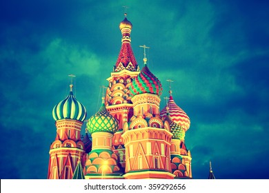 Cathedral of Vasily the Blessed on Red Square in Moscow