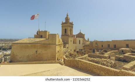 Cathedral in Victoria, Capital of Gozo Malta, 18th-century baroque cathedral erected on the site of an ancient Roman temple to Juno