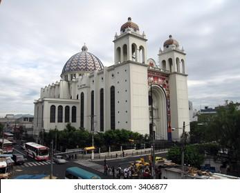 Cathedral View (San Salvador, El Salvador) from the Palace
