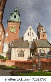 Cathedral at Wawel hill. Krakow.